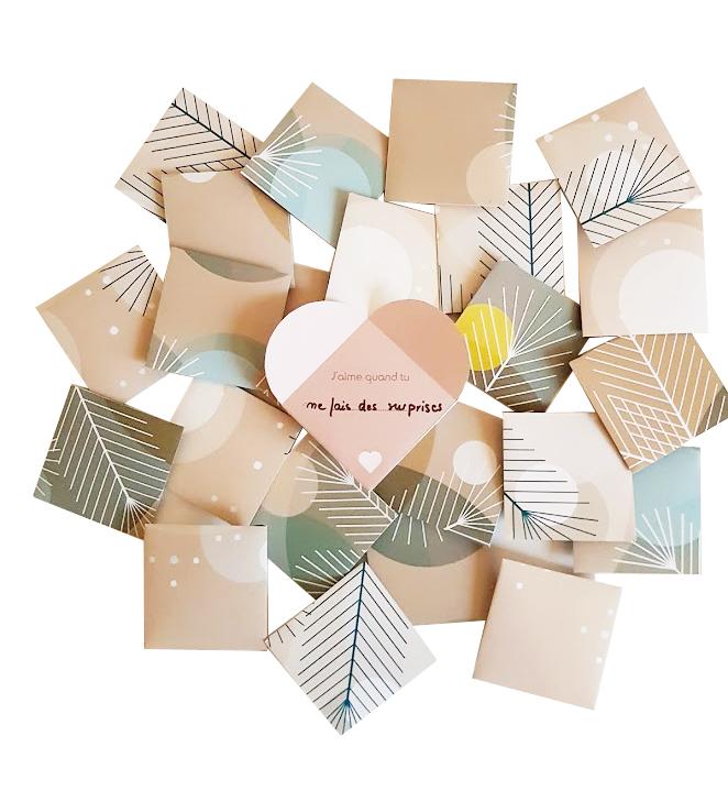 le calendrier de l 39 avent des mots qui font grandir l 39 enfant fichier imprimer produits diy. Black Bedroom Furniture Sets. Home Design Ideas