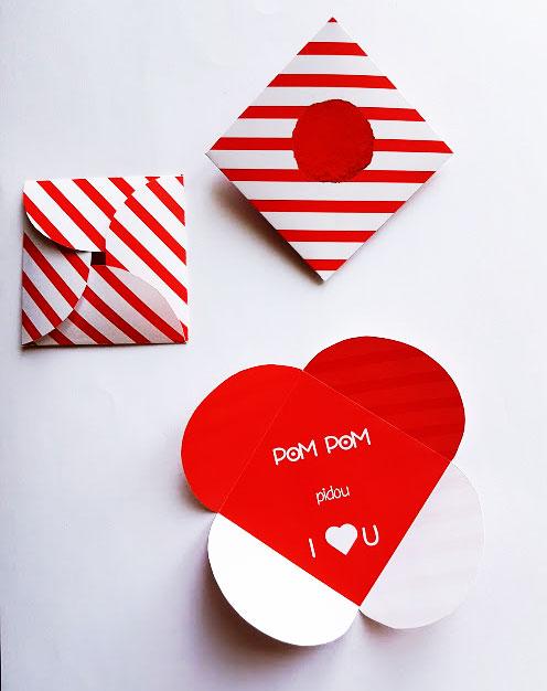 Carte de st valentin pompom pidou i love you fichier imprimer - Carte st valentin gratuite a imprimer ...