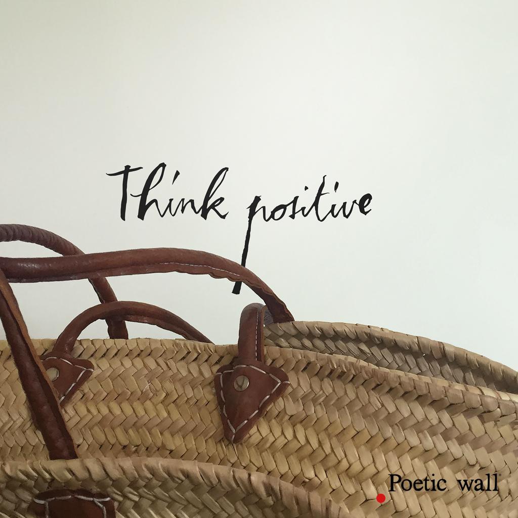 Poetic Wall Mel Et Kio sticker think positive