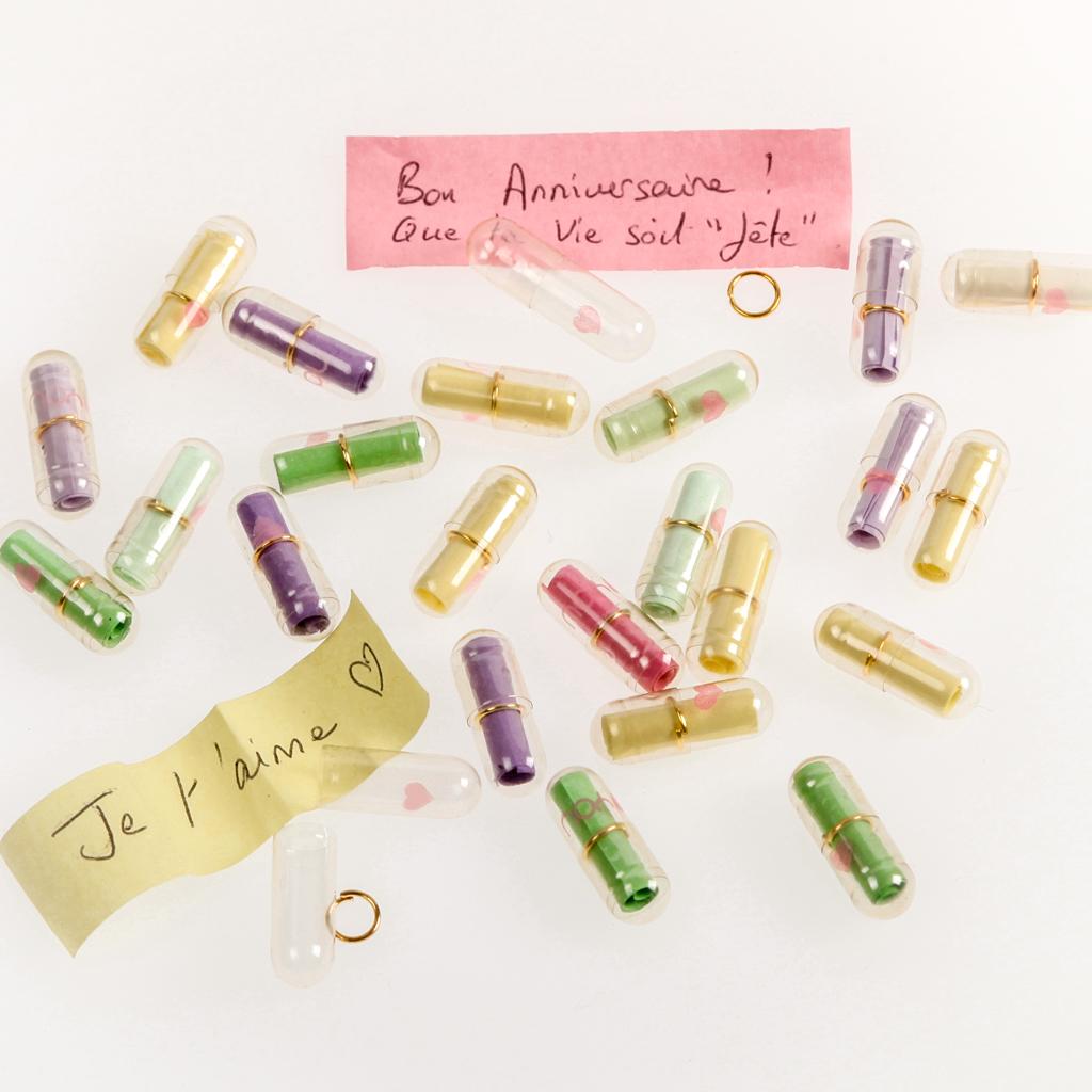 Gélules à message translucides