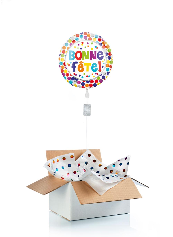 Ballon-helium-bonne-fete-pois