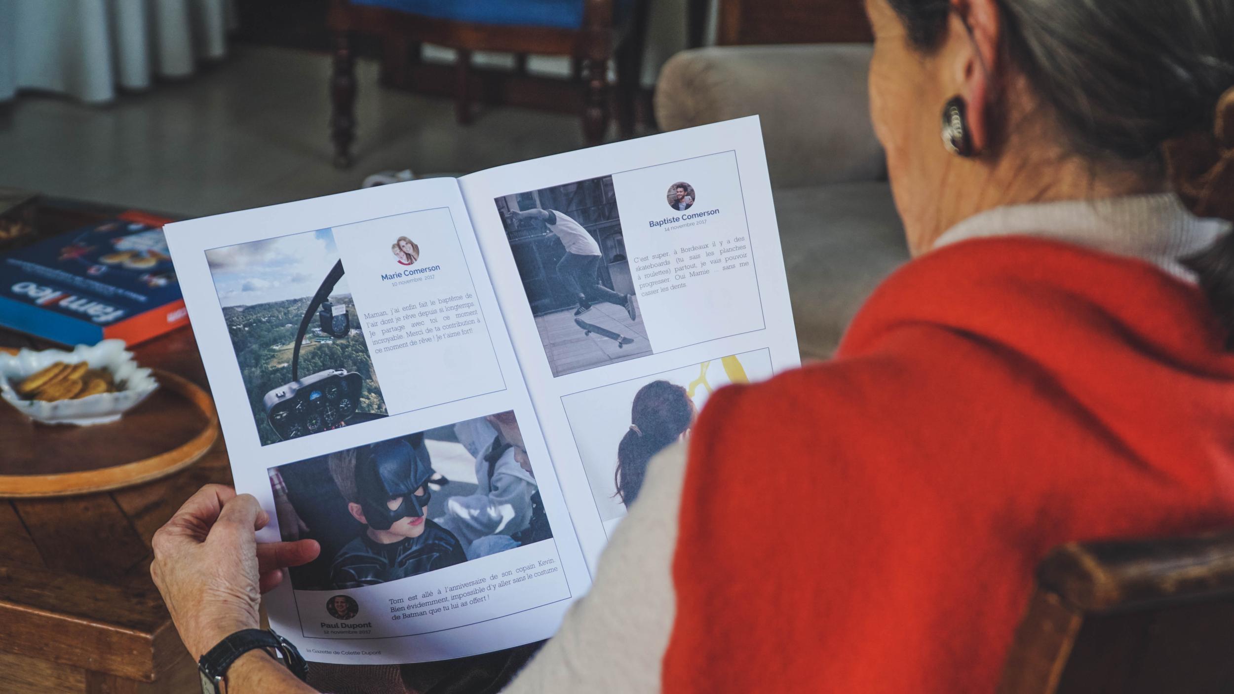 Avis et commentaires de cadeau original pour grands parents la gazette famileo - Cadeau grand mere personnalise ...