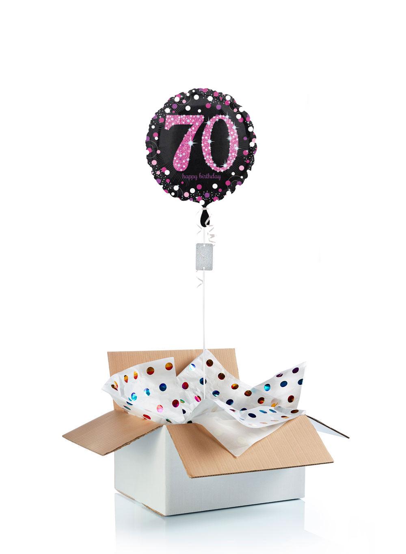 Ballon Danniversaire Surprise Gonflé à Lhélium 70 Ans