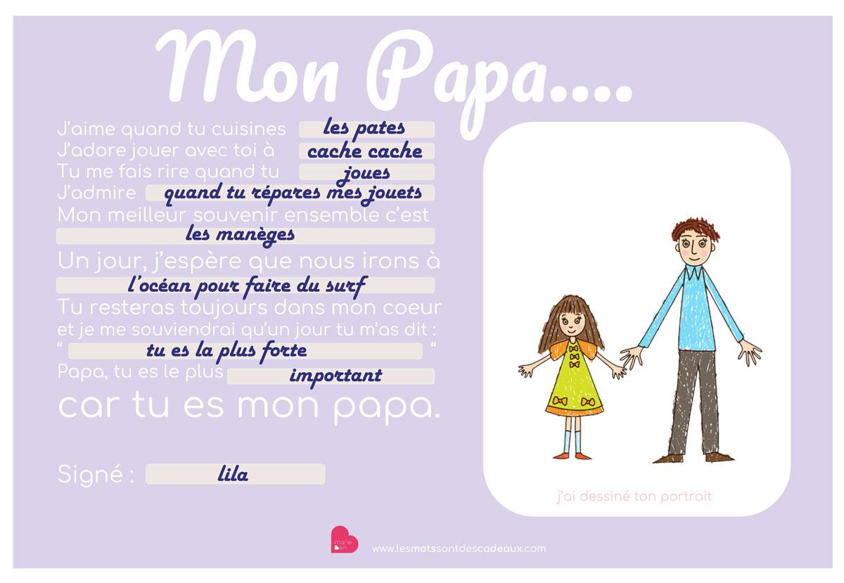 Papa Maman Cadeaux D/'anniversaire Personnalisé Maman Papa Grand-Père Fête Des Pères poème cadeaux