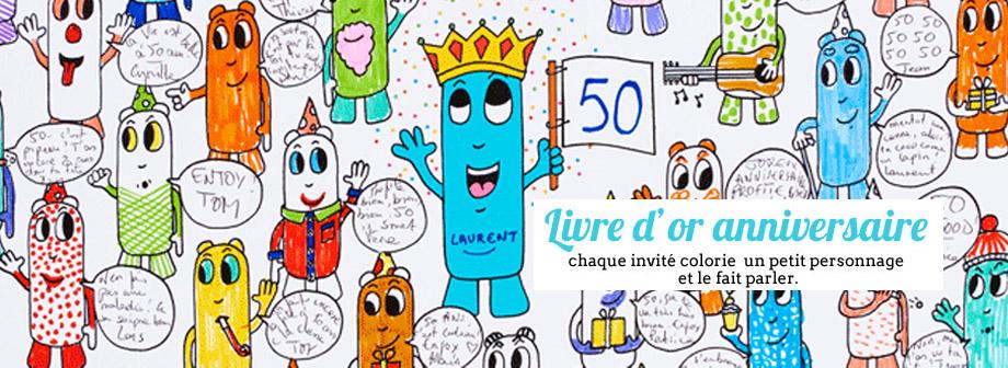 affiche colorier anniversaire