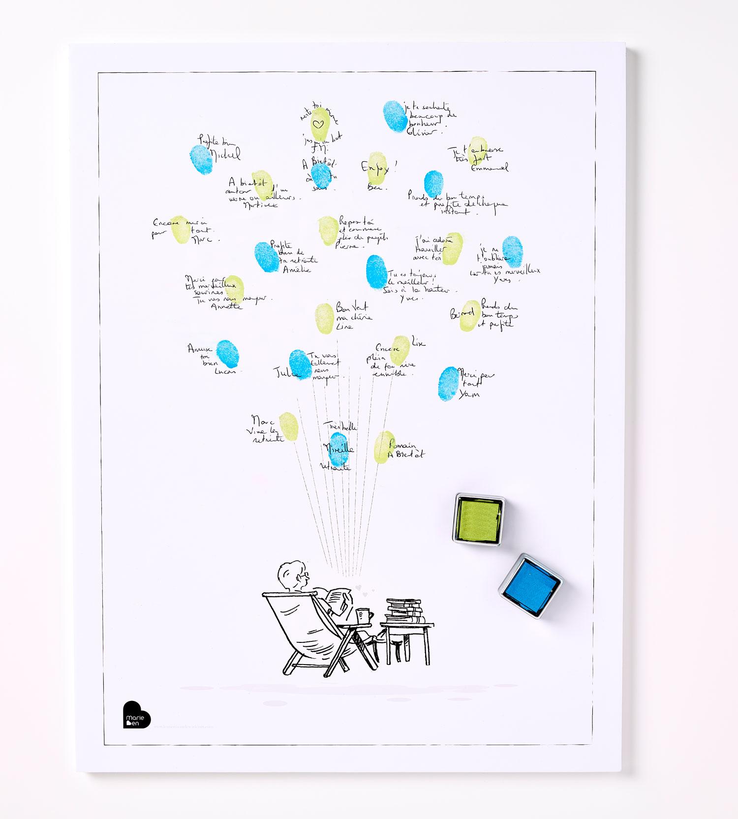 Affiche Départ En Retraite Pour Un Homme Kit Affiche 2 Encreurs