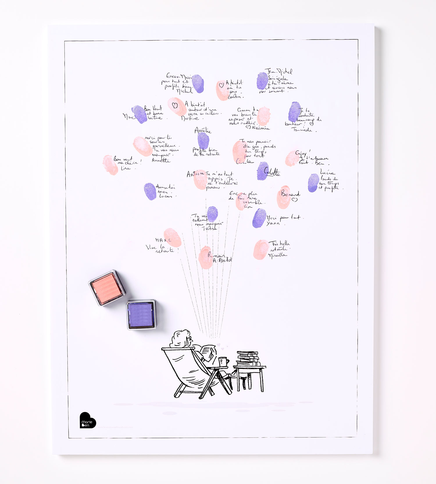 Affiche Départ En Retraite Pour Une Femme Kit Affiche 2 Encreurs