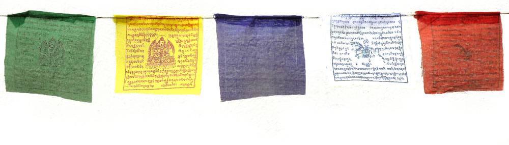 drapeau de priere tibetain