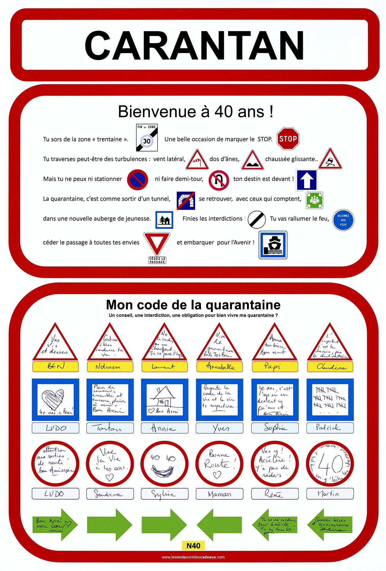 Affiche Danniversaire Code De La Quarantaine