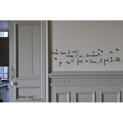 "Sticker Poetic Wall ""il fait si bon..."""