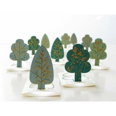 """10 petites cartes de voeux """"forêt"""""""