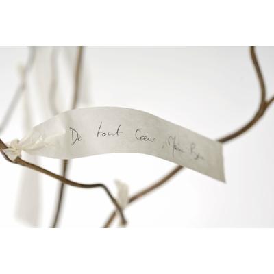 Etiquettes en papier pour accrocher ses voeux