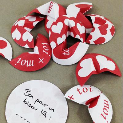 Fortune cookie amoureux - fichier à imprimer