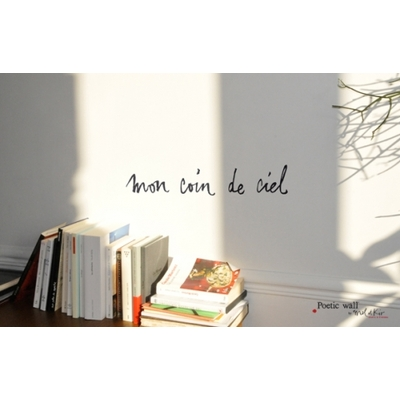 "Sticker Poetic Wall ""mon coin de ciel"""
