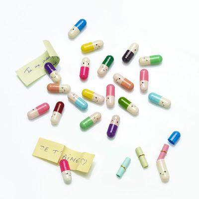 Gélules à message multicolores