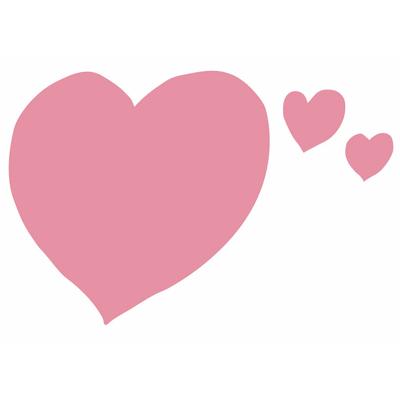 """Pensette® """"coeur"""", pense-bête adhésif effaçable"""