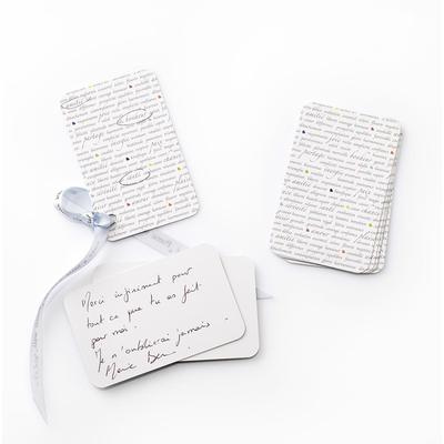 10 petites cartes à message avec des mots positifs