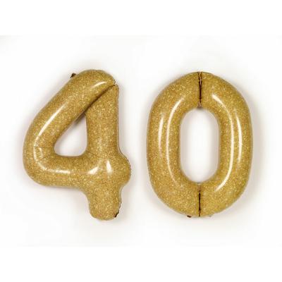 Chiffres dorés géants gonflables