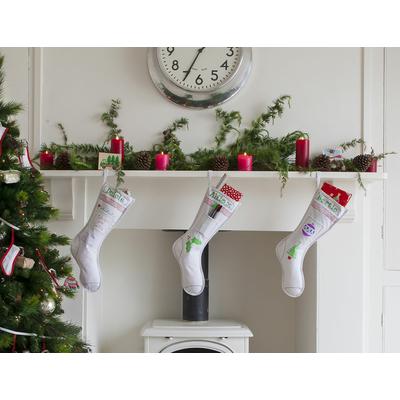 Botte de Noël en coton, à colorier puis à laver pour effacer