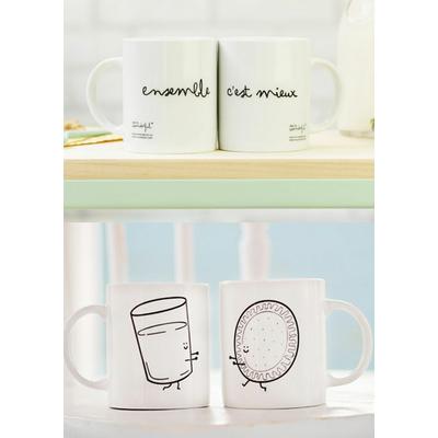 """Duo de mugs """"Ensemble c'est mieux"""""""