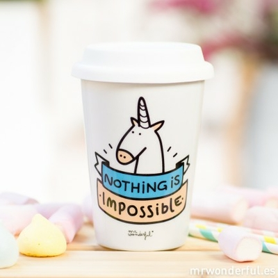 "Mug à emporter ""nothing is impossible"""