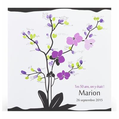 """Affiche à empreintes """"fleur d'orchidée"""""""