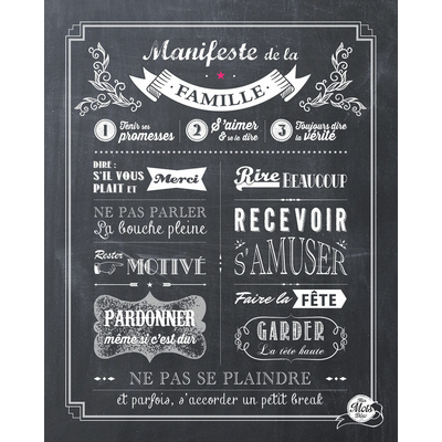 Le Manifeste de la Famille (affiche à encadrer)
