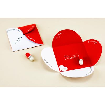 La carte à message amoureux « mon cœur s'emballe » - fichier à imprimer