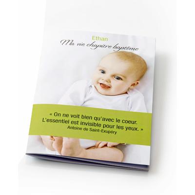 Livre d'or naissance ou baptême personnalisé - phrases à compléter