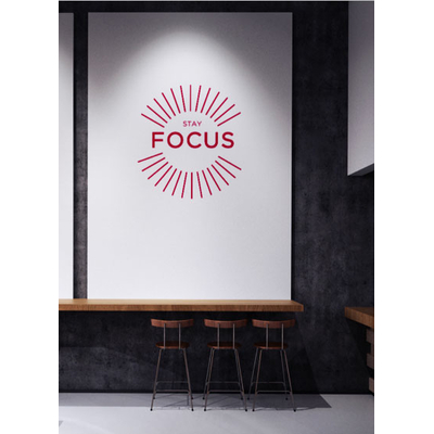 "Sticker mural ""Stay focus"" (54 x 60 cm)"