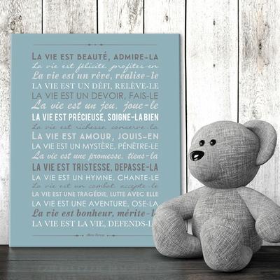"""Tableau canvas """"la vie est beauté"""" - Mère Téresa"""