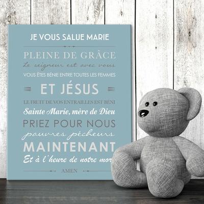 """Tableau canvas prière """"Je vous salue Marie"""""""