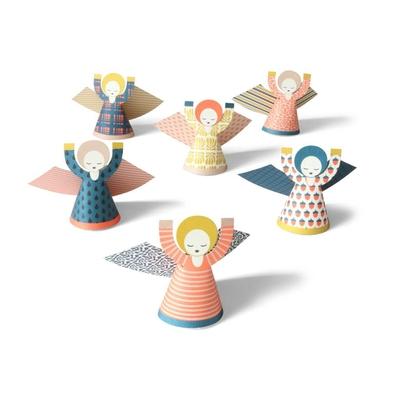 5 mini anges à découper (cartes postales et déco)