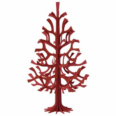 Sapin en bois à monter soi-même (rouge, 60 cm)