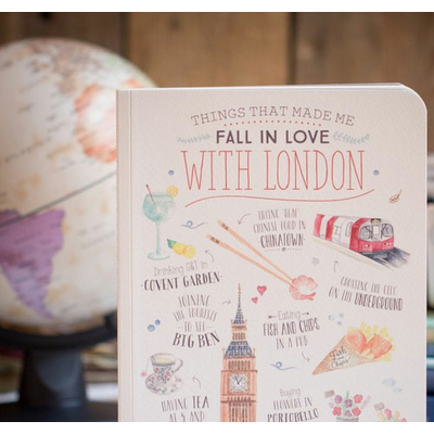 "Cahier  ""Things that made me fall in love with London"""