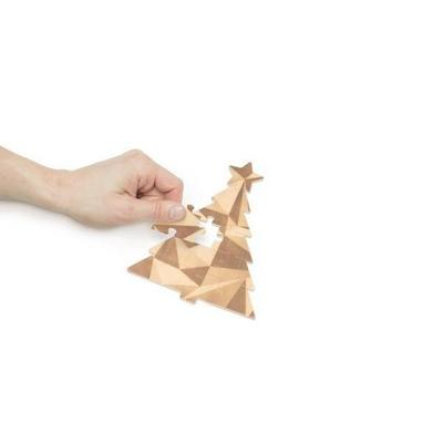 """Carte-puzzle """"joyeux noël"""" et """"meilleurs voeux"""""""