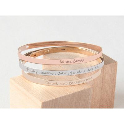 Bracelet-jonc semi-rigide personnalisé 3 couleurs