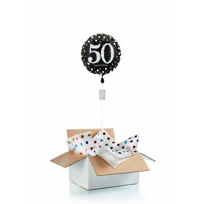 """Ballon d'anniversaire """"surprise"""" gonflé à l'hélium : 50 ans"""