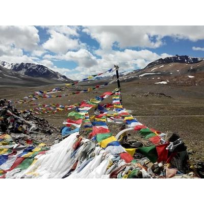 10 drapeaux de prière tibétains porte-bonheur