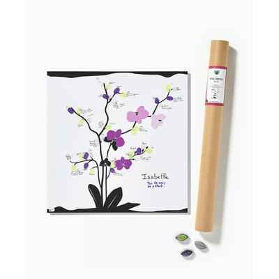 """Affiche à empreintes """"orchidée"""" (kit affiche + 3 encreurs)"""
