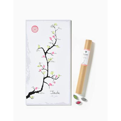 """Affiche à empreintes """"estampe cerisier"""" (kit affiche + 3 encreurs)"""