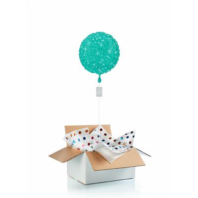 """Ballon """"surprise"""" gonflé à l'hélium : vert étincelle"""