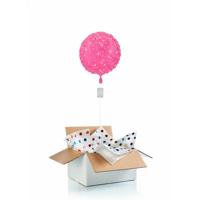 """Ballon """"surprise"""" gonflé à l'hélium : rose étincelle"""