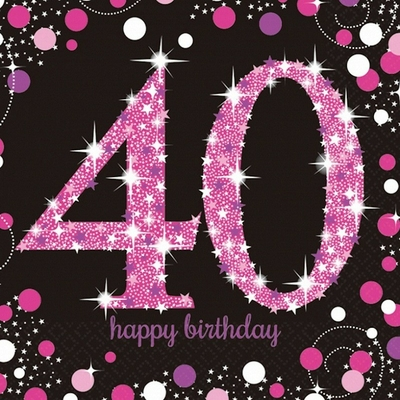 serviettes-anniversaire-40-ans-rose