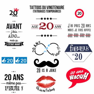 Tattoos du vingtenaire (anniversaire 20 ans)