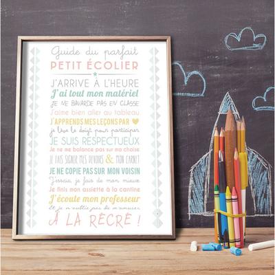 Le guide du parfait petit écolier (affiche à encadrer)