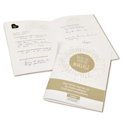 """Carnet de mariage """"phrases à compléter"""" (livre d'or)"""