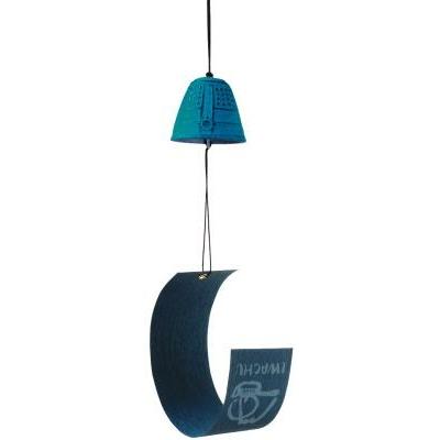 Cloche à vent et à message feng shui - turquoise