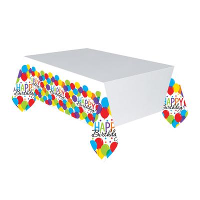 """3 Nappes """"Happy Birthday"""" avec des ballons en couleur"""