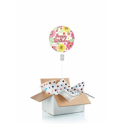 """Ballon d'anniversaire """"surprise"""" gonflé à l'hélium : fleurs"""